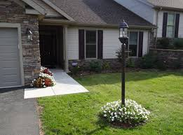 front yard light pole lamp gas or electric texags