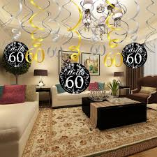 60th birthday centerpieces for tables 60th birthday decoration konsait 60th birthday hanging swirl 15