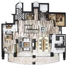 Rendered Floor Plans by 28 Rendered Floor Plan Rendered Second Level Furniture