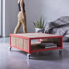 exceptional red metal coffee table part 10 atelier red metal