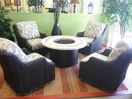 Patio Furniture With Sunbrella Cushions Patio Renaissance Woven Swivel Chairs With Sunbrella Cushions A