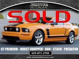 hurst mustang 2007 ford mustang gt premium coupe hurst equipped bbk stock