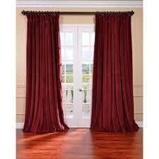 Burgundy Velvet Curtains Exclusive Fabrics Burgundy Velvet Blackout Wide Curtain