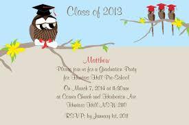 Examples Of Invitation Cards Graduation Owl Postcard In Invitation Impressive