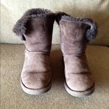 ugg s boots chocolate 61 ugg boots ugg bailey button boots chocolate from