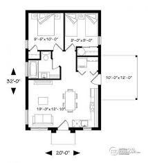 2 bedroom cottage plans w1910 bh small affordable modern 2 bedroom home plan open