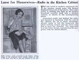latest for housewives u2014radio in the kitchen cabinet modern mechanix