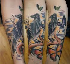 junkies studio tattoos nature tree colored