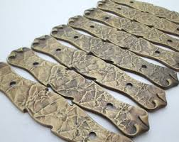 Kitchen Cabinet Hardware With Backplates Cabinet Pulls Etsy