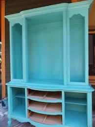 vintage china hutch makeover by fantasy author meredith rose