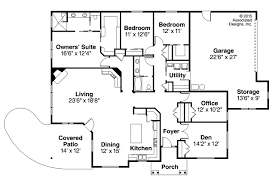 Floor Plans For Ranch Style Homes by Home Plans Ranch House Floor Plans Executive Ranch Floor Plans