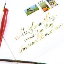 strathmore writing paper watercolor calligraphy tutorial the postman s knock