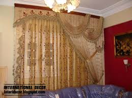 unique luury drapes curtain design for living room interior