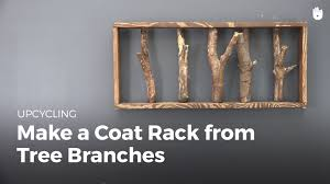diy projects make a coat rack from tree branches upcycling