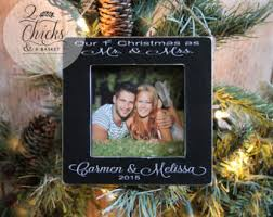 godparent christmas ornaments set of 2 picture frame