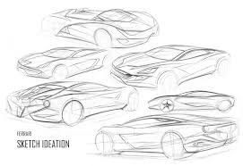 Justin Salmon Ferrari Sketches