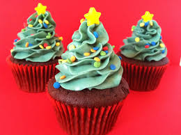 the weekly sweet experiment christmas tree cupcakes