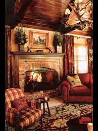 Rustic Living Room I Love The Room Except For The Striped Chair A Darker Emerald Or