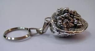 sterling key rings images Sterling silver walnut key chain key ring key rings plating jpg