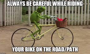 Bike Meme - kermit bike meme generator imgflip