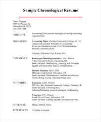 Sample Resume For Bookkeeper Accountant by Download Examples Of Chronological Resumes Haadyaooverbayresort Com