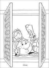 potts chip lumiere cogsworth coloring pages hellokids