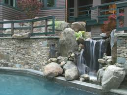 home waterfall designs backyard waterfall ponds designs simple