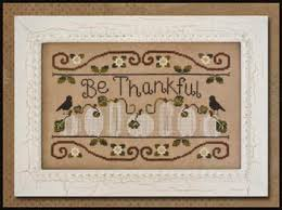 country cottage needleworks be thankful cross stitch pattern
