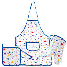 hannukah candy hanukkah dreidel design kitchen apron oven mitt and pot holder