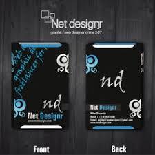 free black designer business card templates designed on a black