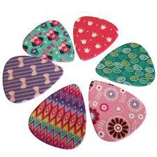 amazon com girly guitar picks set medium celluloid 12 pack