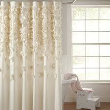 Fieldcrest Luxury Shower Curtain - ivory u0026 cream ruffled shower curtains you u0027ll love wayfair