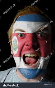 Costarican Flag Low Key Portrait Angry Man Whose Stock Photo 91865153 Shutterstock