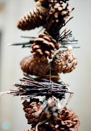 pinecone garland twig and pinecone garland q wedding photographer tx