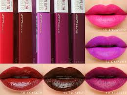 Maybelline Superstay Matte Ink maybelline superstay matte ink liquid review swatches