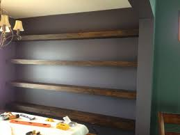 Shelves For Dining Room Wall To Wall Floating Shelves In Dining Room Shanty 2 Chic