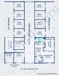 Horse Barn With Living Quarters Floor Plans | horse barns with living quarters floor plans
