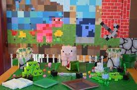 minecraft backdrop minecraft party decoration ideas affordable braesd