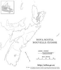 canada blank map scotia blank map