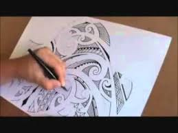 how to draw a maori shoulder sleeve tattoo youtube