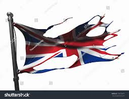 German British Flag Tattered British Union Jack Flag Stock Illustration 109216973