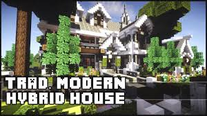minecraft traditional house w modern interior youtube