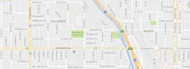 Denver Neighborhoods Map Baker Neighborhood Denver