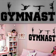 gymnast wall decal girls sticker room decor gogodecals