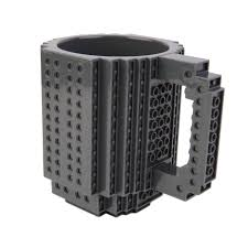 creative diy assembly brick building blocks coffee cup block