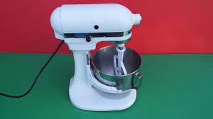 Stand Mixer Kitchenaid by Stand Mixer Kitchenaid Heavy Duty Ksm5 100v Youtube