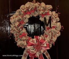 how to make a burlap wreath for christmas easy and inexpensive
