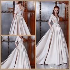 zuhair murad bridal discount zuhair murad 2018 wedding dresses sheer neck half sleeve