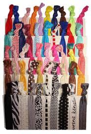 creaseless hair ties no crease hair ties 50 pack prints and solids by