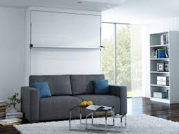 lit escamotable canapé lit escamotable canapé leggio std 140x200cm bois blanc gris